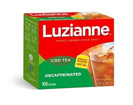 Luzianne Decaffeinated Iced Tea Bags 100 ct. Box Pack of 4 - $36.62
