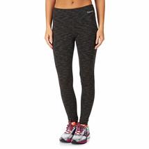 Bench Damen Jet Schwarz Meliert Marl Baddah Leggings Fitness Yoga Hose Nwt