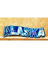 "25"" Alaska alaskan state with pics inside Letters USA steel metal americ... - $89.00"