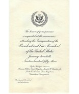 Dwight Isenhower & Nixon 34th President/VP Official Inauguration Invitation #842 - $45.00