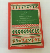 vintage hallmark holiday Christmas stationery in holiday box writing paper  - $19.75