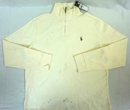Nwt Polo Ralph Lauren Men's Olympia Cream Estate Rib Pullover Sweater Medium M - $40.56