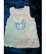 Chenille 2T Bunny Rabbit A Line Dress Easter 3D Pink Green Purple Fuzzy ... - $19.79
