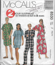 Misses Nightgown, Men's Sleepwear, Nightshirt Pajamas, Long Short Sleeve... - $10.00