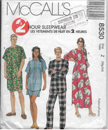 Misses Nightgown, Men's Sleepwear, Nightshirt Pajamas, Long Short Sleeve... - $11.00