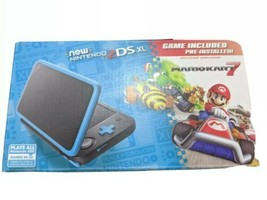 NEW Nintendo 2DS XL Black/Turquoise Handheld Gaming System Mario Kart 7 - $144.91