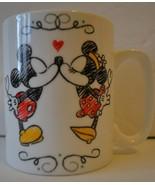Disney Mickey & Minnie Mouse Ooh La La White Mug by Enesco Hearts Love -... - $14.78