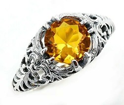1CT Citrine 925 Solid Sterling Silver Edwardian Look Ring Jewelry Sz 8, ... - $27.71