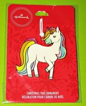 Hallmark Unicorn Ornament Christmas Flat Metal Collectible NEW - $13.98
