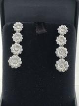 Tiffany & Co. Platinum Diamond Rose Graduated Drop Earrings - $4,898.04