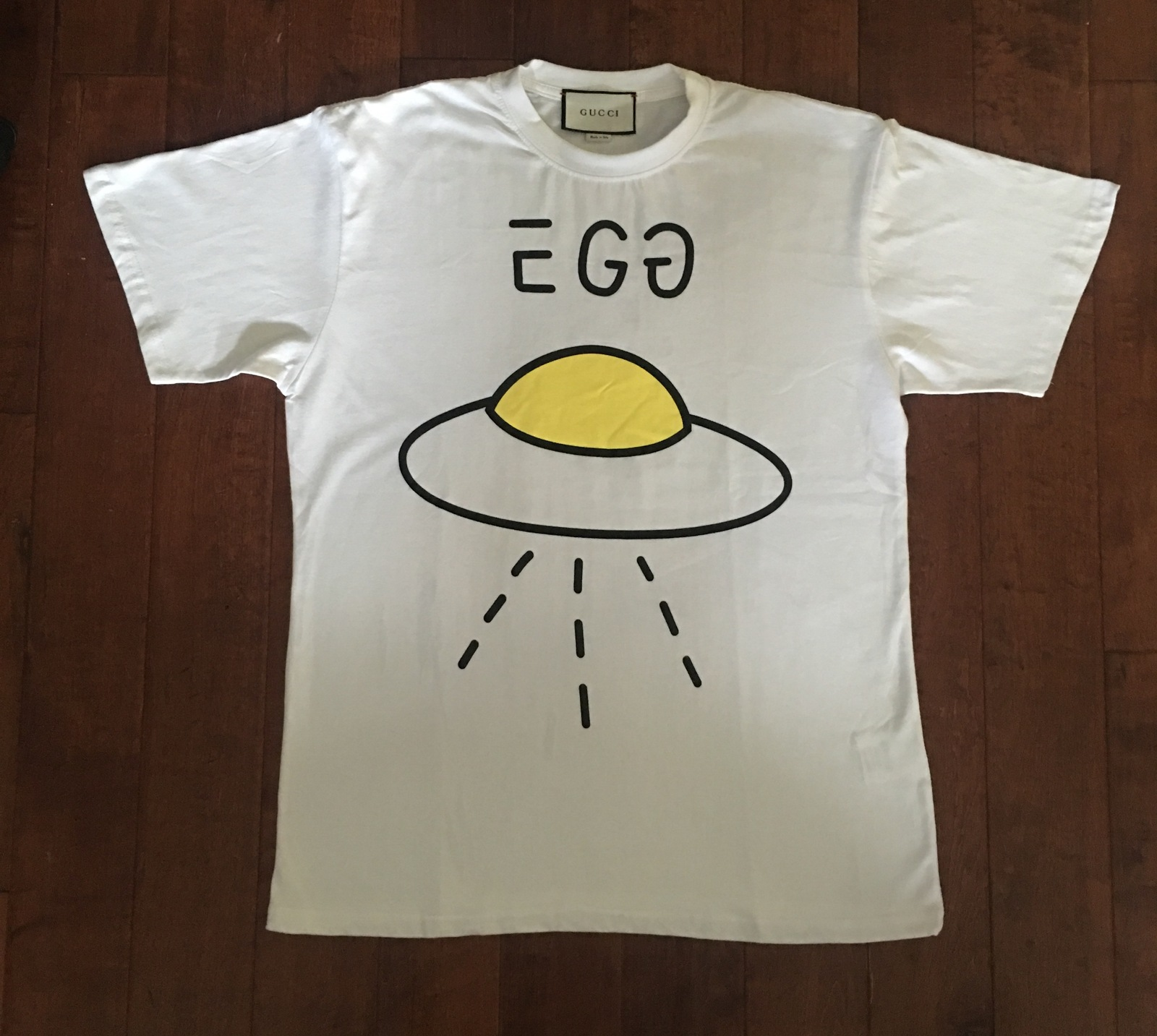 0782bfdf Men's Gucci White Gg Ghost Egg Ufo Tshirt and 50 similar items
