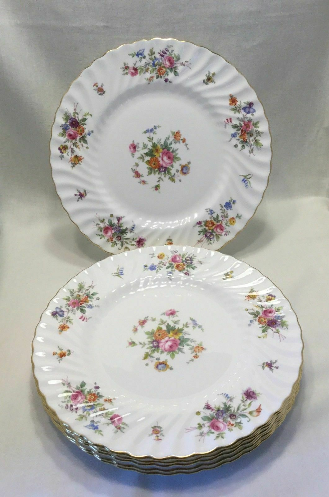 """10  Minton China Marlow Dinner Plates 10 5/8""""  winged logo             #3099 - $69.25"""