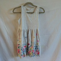 H&M Girls Size 6/8 Gray Floral Sundress - $8.60