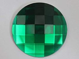 60mm Emerald H106 Flat Back Round Acrylic Jewels Pro Grade Individually ... - $7.92