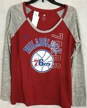 Adidas Philadelphia 76ers NEW Womens Long Sleeved Tee 100% Soft Cotton SZ L - $17.38