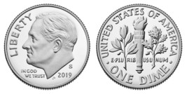 2019 Proof  Roosevelt dime CP1690 - $3.30