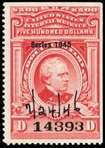 R434 $500 VF Documentary Revenue Stamp With PFC Cat $325.00 - Stuart Katz - $275.00