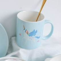 Nordic Blue Unicorn Mug Ceramic Coffee Milk Tea Cup 350ML - $32.93