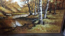 "Large 61""x 49"" Original Walter Sherwood Landscape Oil Painting Signed Artist Art image 4"