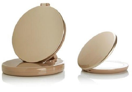 Flip 'N Beauty Folding LED Beauty Mirror Set of 2, Gold - $27.71