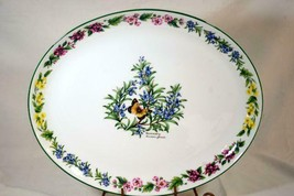 """Royal Worcester 2009 Herbs Rosemary Oval Platter 15"""" - $43.65"""