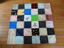 Handmade Vintage Flowered Patchwork QUILT Tapestry Flannel Cotton 31 x 3... - $88.88