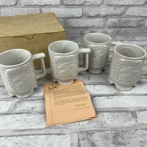 Frankoma Pottery Lot of 4 USPS Post Office Technical Center Norman OK Mu... - $63.52