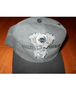 Harley-Davidson Engine Black Gray Cap Hat NEW NWOT Motorcycle NEW Bike s... - $17.59
