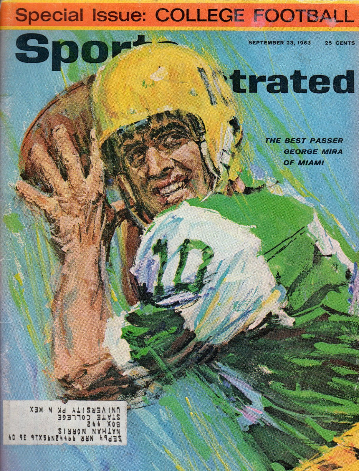 1963 Sports Illustrated September 23-George Mira;Lefty Grove;Texas Football boys