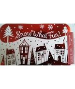 Hallmark PX2023 Red and White Snow What Fun Boxed Holiday Christmas Card... - $9.89