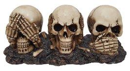 Pacific Giftware No Evil Skull Hear Speak See Trio Spooky Halloween Deco... - $15.83