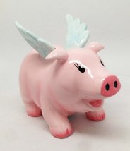 "WHEN PIGS FLY FLYING PIG MONEY BANK 5"" CERAMIC HOG HEAVENS FIGURINE WORL... - £16.28 GBP"