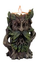 5 Inch Hear No Evil Greenman Figurine Candle Holder, Brown and Green - £12.34 GBP
