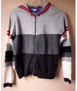 Women's Juniors TOMMY JEANS Full Zip Front Knit Sweater Hoodie Size S P/CH - $19.55
