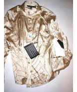 New Womens Designer Rachel Roy Signature Silk Blouse Top 12 NWT Beige Br... - $375.00