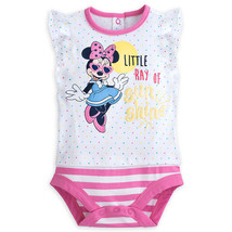 "Disney Store Minnie Mouse ""Little Ray Of Sun Shine"" Cuddly Bodysuit for ... - $13.50"