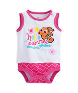 "Disney Store Finding Nemo ""Hello Summer"" Sleeveless Bodysuit for Baby Girls - ₹947.76 INR"