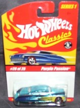 Hot Wheels Classics Purple Passion BLUE w/Yellow Flames Series 1 #20 of 25 - $6.96