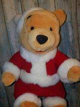 Christmas Winnie The Pooh Wind Up Plush Bear - Wish You A Merry Christmas Disney image 4