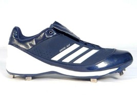 Adidas Excel 365 Dark Blue  amp  White Metal Low Baseball Softball Cleats  Men  39 fc83a650976e4