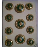 11 pc  Designer Metal Coat Blazer Button Set Sh... - $22.00