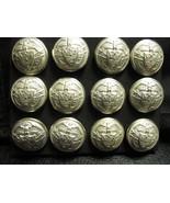 "RALPH LAUREN BLAZER BUTTON LOT 7/8"" Coat metal  Ant white / frost silver... - $22.00"