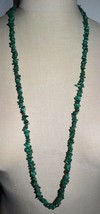 VTG Natural Malachite Nugget Chip Bead Beaded Necklace No Clasp - $99.00