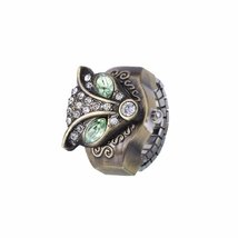 Fashion Classic Vintage Fox Ring Quartz Watch Women Men Adjustable - 1x w/Ran... image 3