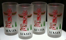 "Kitschy Retro Libbey ""Swanky Swig"" ALASKA Totem Tumblers - $19.79"