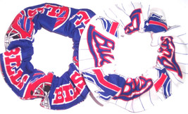 Buffalo Bills Hair Scrunchie Fabric Tie Ponytail Holder Scrunchies by Sherry NFL - $6.99+