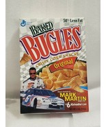 RARE VINTAGE GENERAL MILLS MARK MARTIN BUGLES SNACK BOX NASCAR #6 Valvol... - $9.89