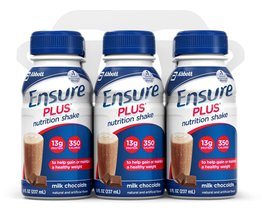 Ensure Plus Nutrition Shake, Milk Chocolate, 8-Ounce Bottle, 6 Count, (P... - $37.99
