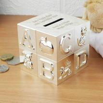Personalised ABC Silver Money Box - $14.99