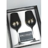 Engraved Nero Swarovski® Diamante crystals Red Wine Glass Set